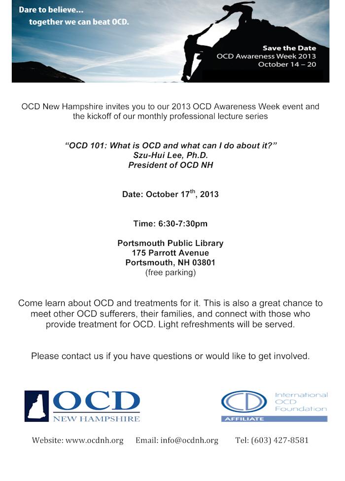 OCD 101, October 17, 2013